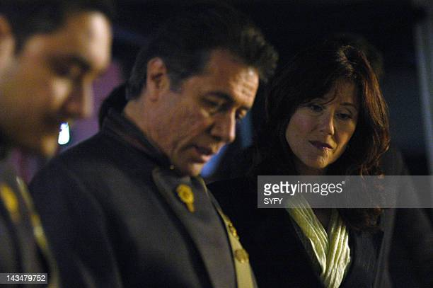 Channel 'Water' Episode 2 Aired 10/25/04 Pictured Alessandro Juliani as Lt Felix Gaeta Edward James Olmos as Commander William Adama Mary McDonnell...