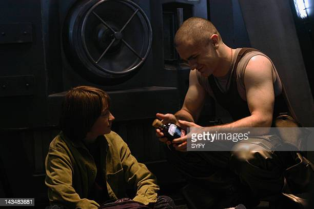 Channel 'Water' Episode 2 Aired 10/25/04 Pictured Connor Widdows as Boxey Sam Witwer as Crashdown