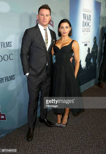 Channing and Jenna Dewan Tatum arrive at HBO 'War Dog A Soldier's Best Friend' premiere at DGA Theater on November 6 2017 in Los Angeles California