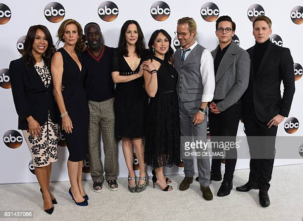 Channing Dungey Rachel Griffiths Michael Kenneth Williams Marie Louise Parker Ivory Aquino Guy Pearce Austin McKenzie and Dustin Lance Bass from When...