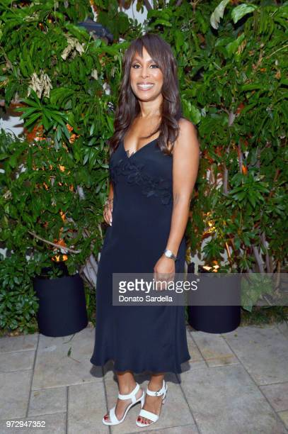 Channing Dungey wearing Max Mara attends the Max Mara Celebration for Alexandra Shipp 2018 Women In Film Max Mara Face Of The Future Award Recipient...