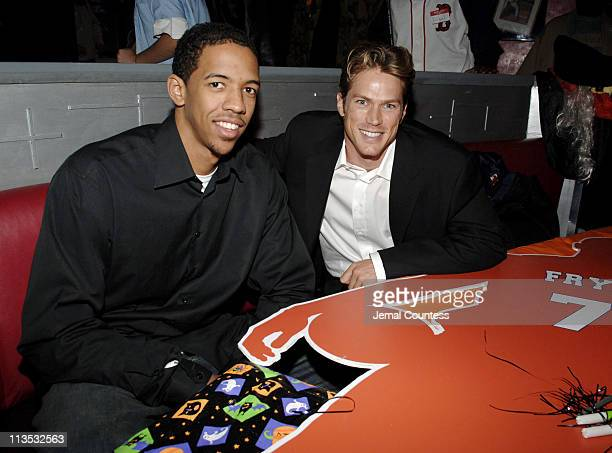 Channing Frye and Jason Lewis during New York Knicks 'TipOff' ReadtoAchieve Campaign with Halloween Bash for Kids at Planet Hollywood at Planet...