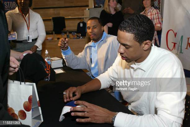 Channing Frye and Quentin Richardson during The NBA Store Hosts the NY Knicks for a Toy Drive on Behalf of the Garden of Dreams Foundation March 7...
