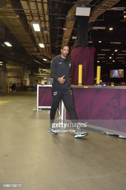 Channing Frye of the Cleveland Cavaliers arrives to the arena prior to the game against the Oklahoma City Thunder on November 7 2018 at Quicken Loans...