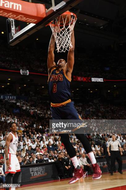 Channing Frye of the Cleveland Cavaliers dunks the ball against the Toronto Raptors during Game Four of the Eastern Conference Semifinals of the 2017...