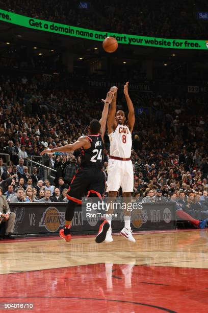 Channing Frye of the Cleveland Cavaliers shoots the ball against the Toronto Raptors on January 11 2018 at the Air Canada Centre in Toronto Ontario...