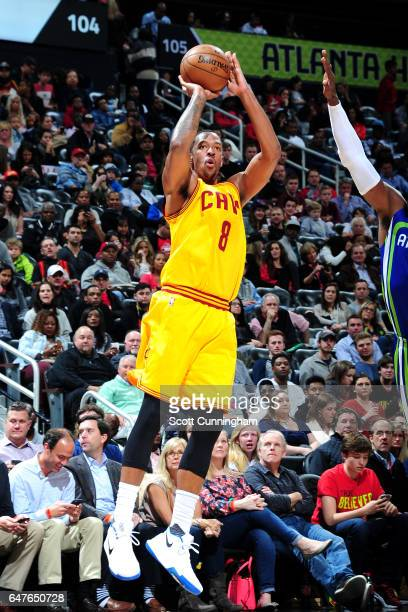 Channing Frye of the Cleveland Cavaliers shoots the ball during the game against the Atlanta Hawks on March 3 2017 at Philips Arena in Atlanta...