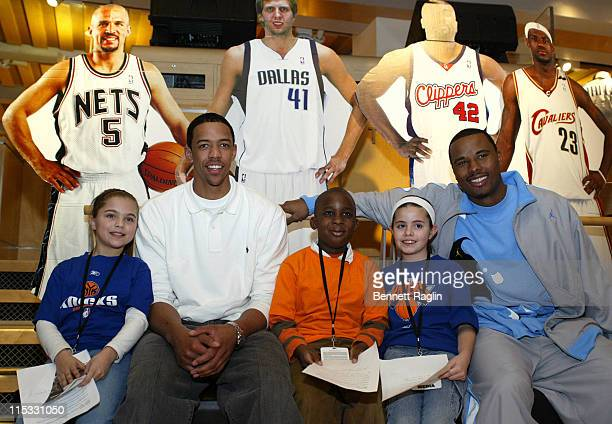Channing Frye Quentin Richardson and guest during The NBA Store Hosts the NY Knicks for a Toy Drive on Behalf of the Garden of Dreams Foundation...