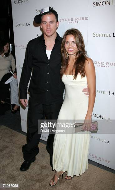 Channing Tatum and Actress Jenna Dewan arrive at the Stone Rose Lounge and Simon LA preview at the newly renovated Sofitel LA Hotel on June 21 2006...