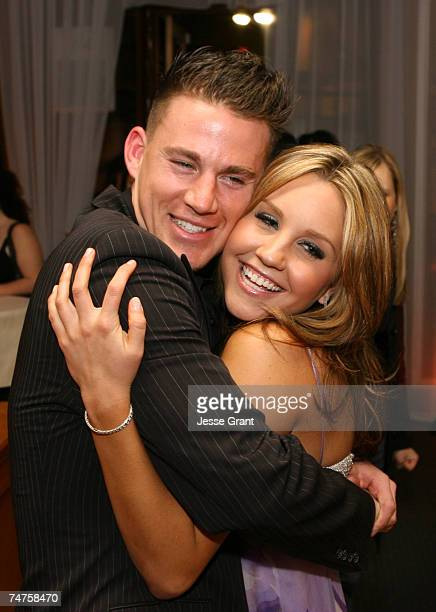 Channing Tatum and Amanda Bynes at the Napa Valley Bar Grill in Westwood California