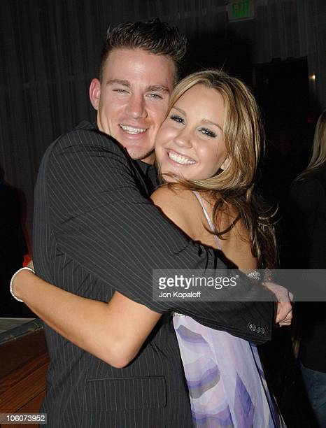 Channing Tatum and Amanda Bynes during DreamWorks' She's the Man Los Angeles Premiere After Party at Napa Valley Bar Grill in Westwood California...