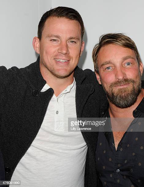 Channing Tatum and Brian Bowen Smith attend Alison Eastwood hosts The Art For Animals Fundraiser Art event at De Re Gallery on June 5 2015 in West...