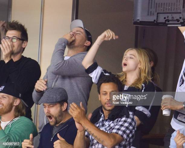 Channing Tatum and Chloe Grace Moretz attend Game Five of the 2014 Stanley Cup Final between the Los Angeles Kings and the New York Rangers at the...