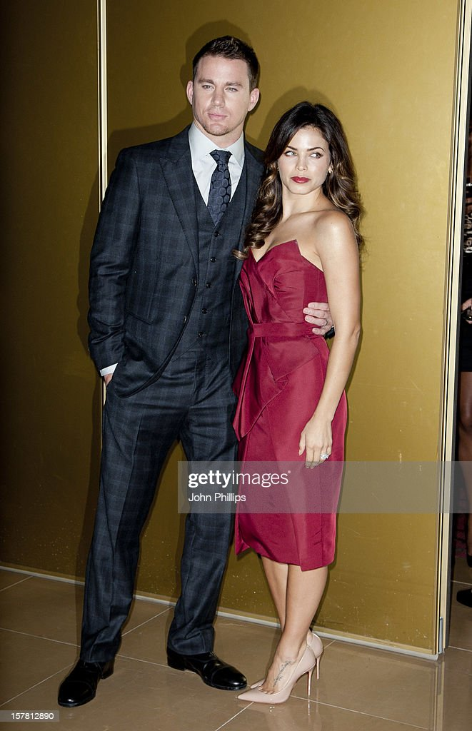 Channing Tatum And His Wife Jenna Dewan Arriving At A Special Film Screening Of Magic Mike At The Mayfair Hotel, London.