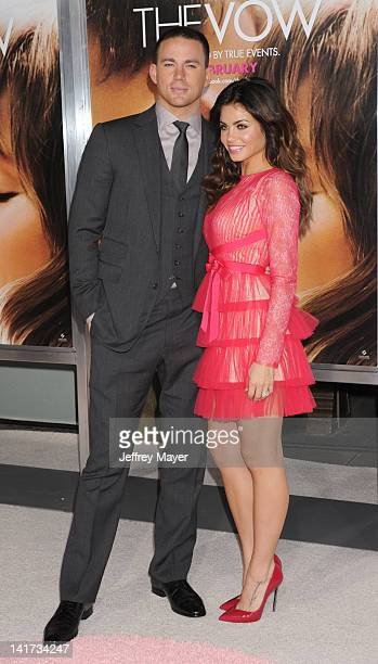 Channing Tatum and Jenna Dewan arrive at The Vow Los Angeles Premiere at Grauman's Chinese Theatre on February 6 2012 in Hollywood California