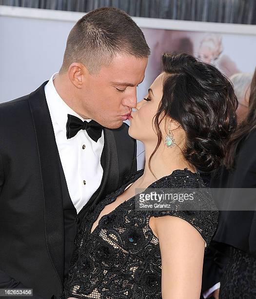 Channing Tatum and Jenna Dewan arrives at the 85th Annual Academy Awards at Dolby Theatre on February 24 2013 in Hollywood California