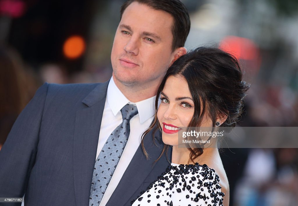 Channing Tatum and Jenna Dewan attend the European Premiere of 'Magic Mike XXL' at Vue West End on June 30, 2015 in London, England.