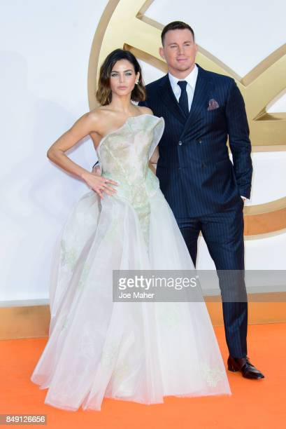 Channing Tatum and Jenna Dewan attend the 'Kingsman The Golden Circle' World Premiere held at Odeon Leicester Square on September 18 2017 in London...