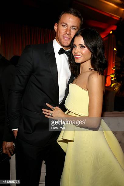 Channing Tatum and Jenna Dewan attend The Weinstein Company & Netflix's 2015 Golden Globes After Party presented by FIJI Water, Lexus, Laura Mercier...
