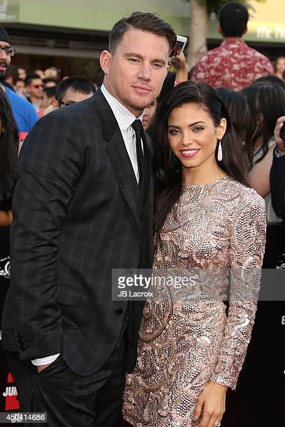 Channing Tatum and Jenna Dewan Tatum attend the 22 Jump Street Los Angeles premiere on June 10 2014 held at the Regency Village Theatre in Westwood...