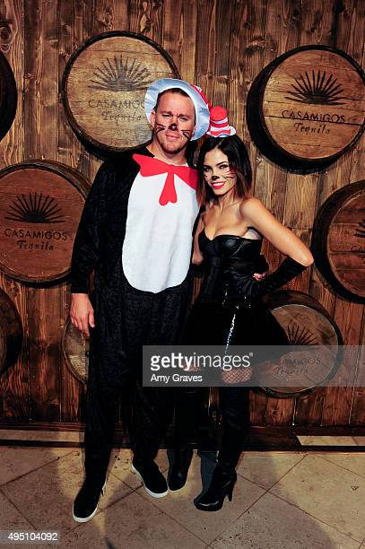 Channing Tatum and Jenna Dewan Tatum attend the Casamigos Tequila Halloween Party Brought to you by Those Who Drink It at a private residence on...