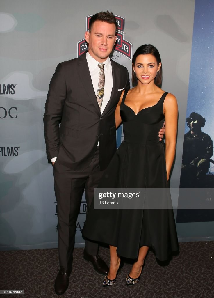 Channing Tatum and Jenna Dewan Tatum attend the premiere of 'War Dog: A Soldier's Best Friend' presented by HBO and Army Ranger Lead The Way Fun on November 6, 2017 in Los Angeles, California.