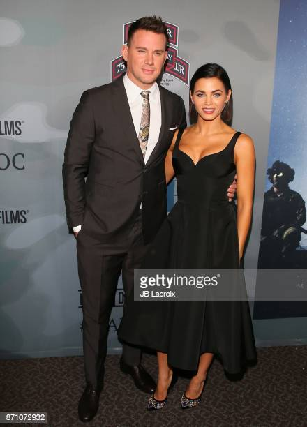 Channing Tatum and Jenna Dewan Tatum attend the premiere of 'War Dog A Soldier's Best Friend' presented by HBO and Army Ranger Lead The Way Fun on...