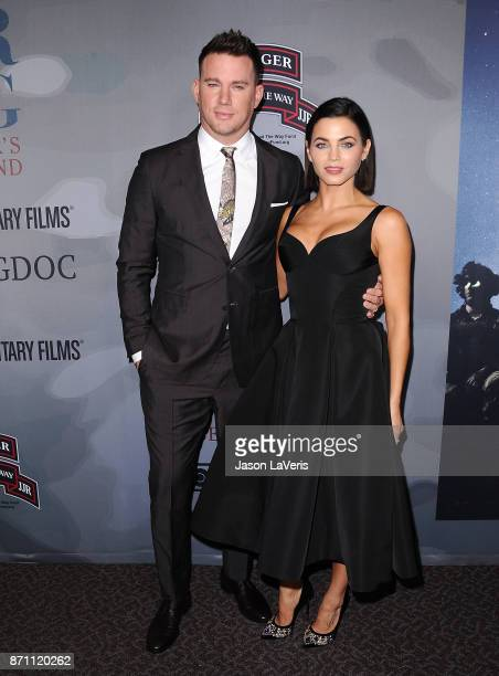 Channing Tatum and Jenna Dewan Tatum attend the premiere of War Dog A Soldier's Best Friend at Directors Guild Of America on November 6 2017 in Los...