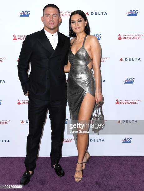 Channing Tatum and Jessie J arrives at the 2020 MusiCares Person Of The Year Honoring Aerosmith at West Hall At Los Angeles Convention Center on...