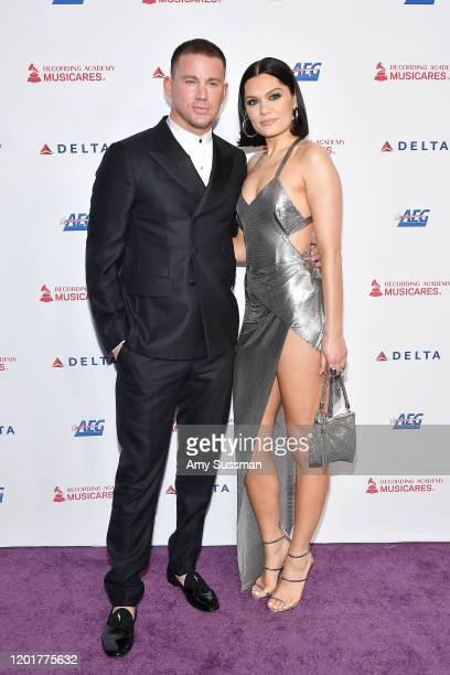 Channing Tatum and Jessie J attend MusiCares Person of the Year honoring Aerosmith at West Hall at Los Angeles Convention Center on January 24 2020...
