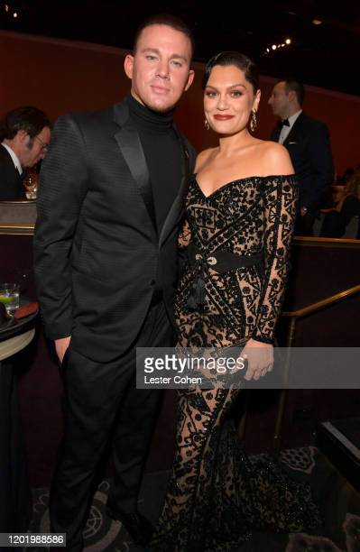 Channing Tatum and Jessie J attend the PreGRAMMY Gala and GRAMMY Salute to Industry Icons Honoring Sean Diddy Combs on January 25 2020 in Beverly...