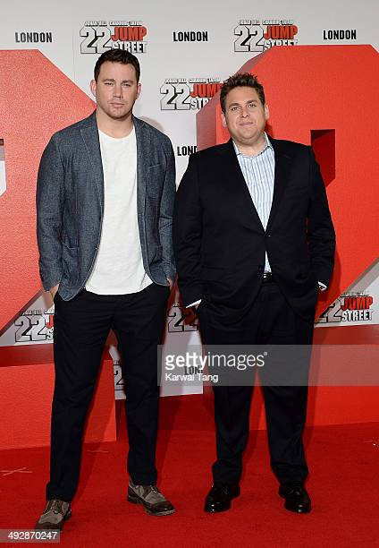 Channing Tatum and Jonah Hill attend a photocall to promote their new film '22 Jump Street' held at Claridges Hotel on May 22 2014 in London England