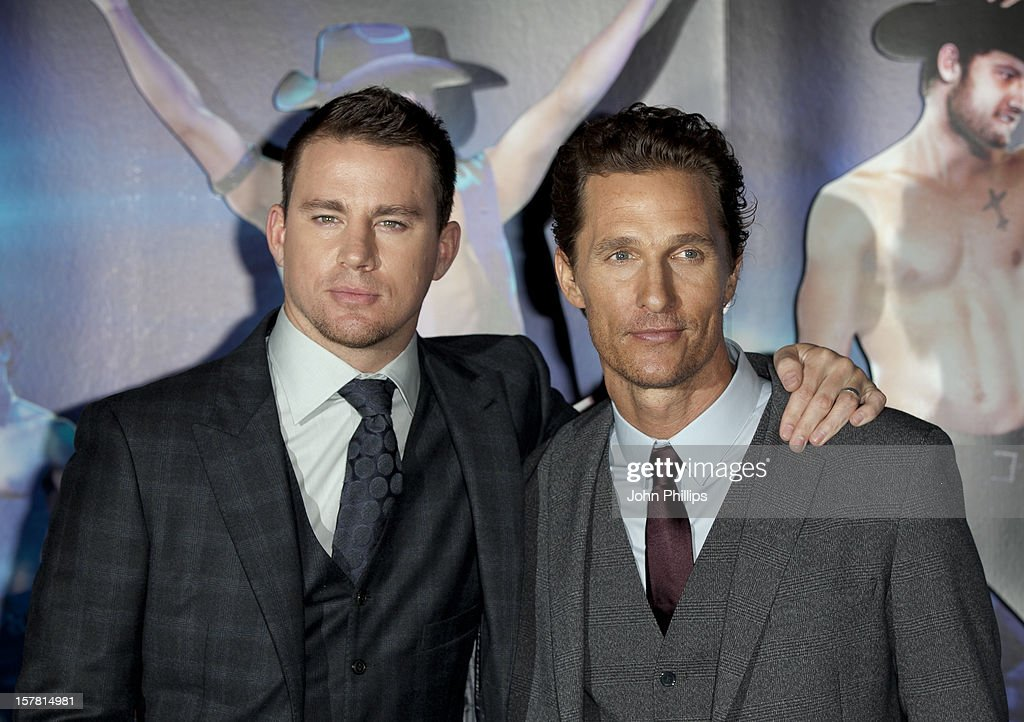 Channing Tatum And Matthew Mcconaughey Arriving At A Special Film Screening Of Magic Mike At The Mayfair Hotel, London.