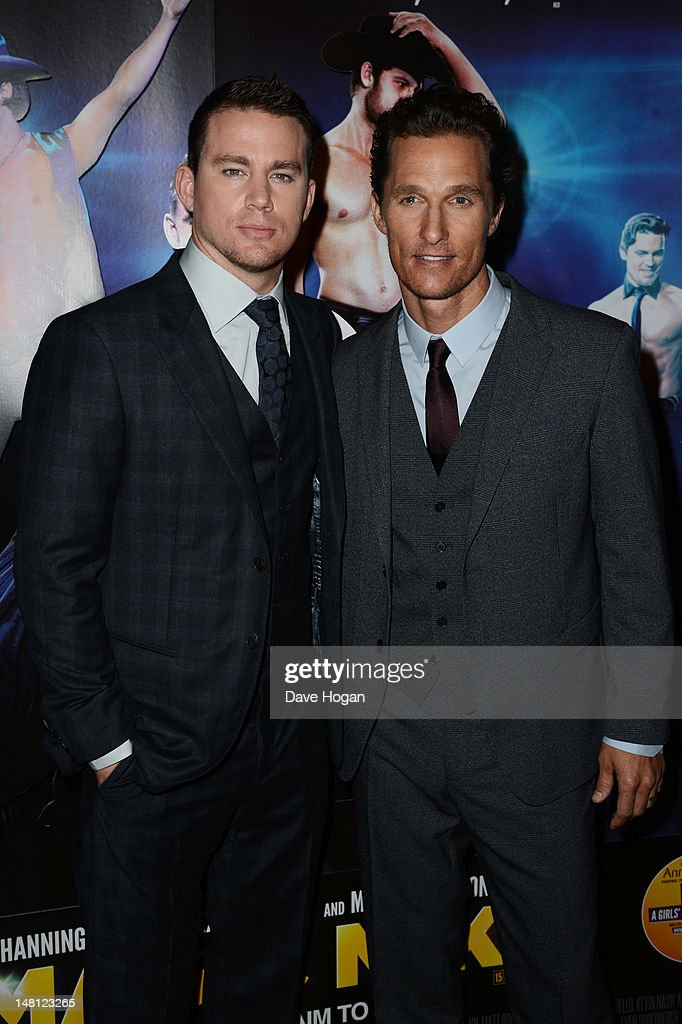 L-R Channing Tatum and Matthew McConaughey attend the European premiere of Magic Mike at The Mayfair Hotel on July 10, 2012 in London, England.