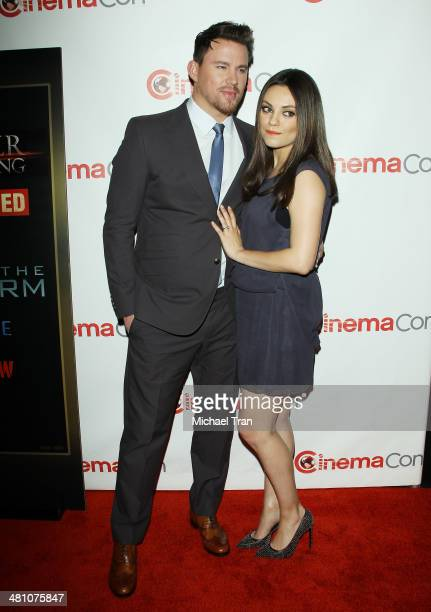 Channing Tatum and Mila Kunis attend Warner Bros Pictures' The Big Picture an Exclusive Presentation at Cinemacon 2014 Day 4 held at The Colosseum at...