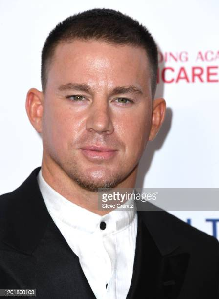 Channing Tatum arrives at the 2020 MusiCares Person Of The Year Honoring Aerosmith at West Hall At Los Angeles Convention Center on January 24 2020...