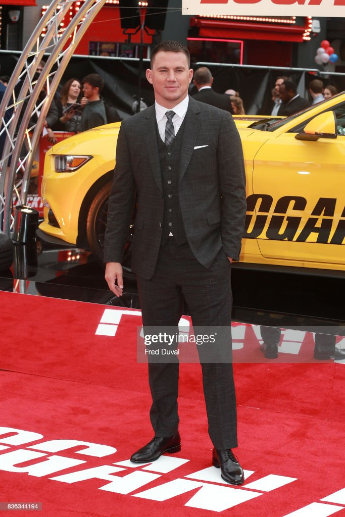 Channing Tatum arrives at the 'Logan Lucky' UK premiere held at Vue West End on August 21, 2017 in London, England.