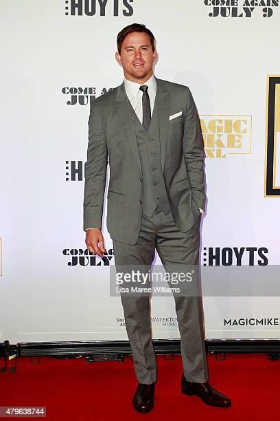Channing Tatum arrives at the 'Magic Mike XXL' Australian premiere on July 6 2015 in Sydney Australia