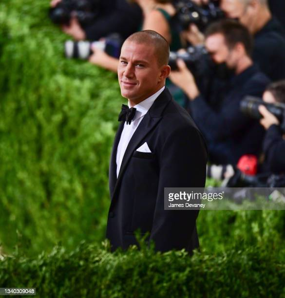 Channing Tatum arrives to the 2021 Met Gala Celebrating In America: A Lexicon Of Fashion at Metropolitan Museum of Art on September 13, 2021 in New...