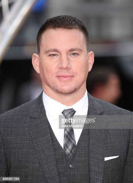 Channing Tatum arriving at the 'Logan Lucky' UK premiere held at Vue West End on August 21 2017 in London England