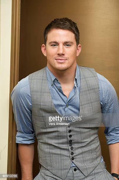 """Channing Tatum at the """"G.I. Joe: The Rise of Cobra"""" press conference at the Waldorf Astoria Hotel on August 1, 2009 in New York City."""