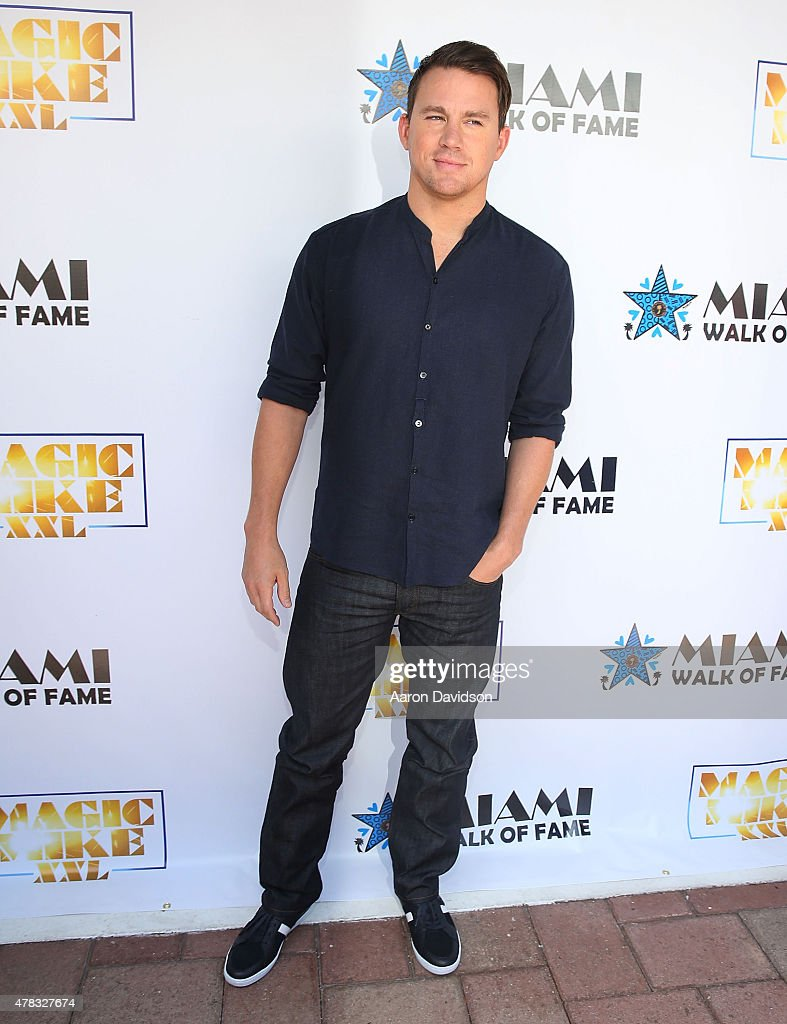 Channing Tatum attends as the 'Magic Mike XXL' cast are honored with stars on The Official Miami Walk Of Fame at Bayside Marketplace on June 24, 2015 in Miami, Florida.