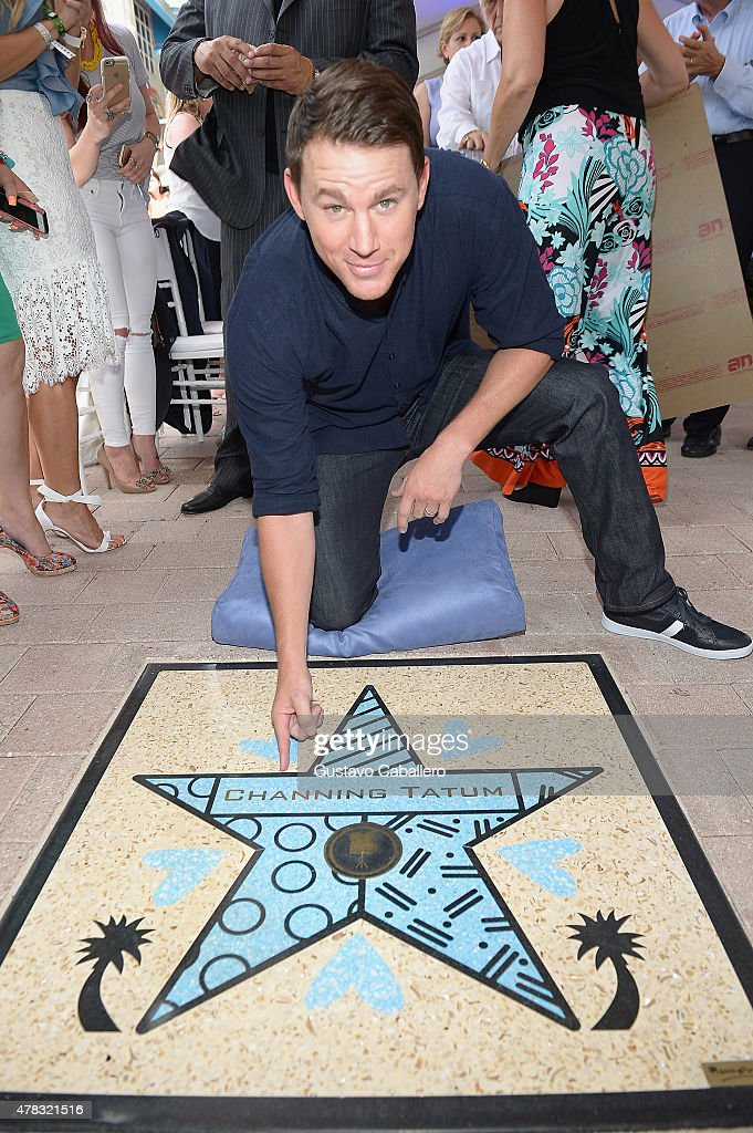 Channing Tatum attends 'Magic Mike XXL' cast honored with stars on The Official Miami Walk Of Fame at Bayside Marketplace on June 24, 2015 in Miami, Florida.