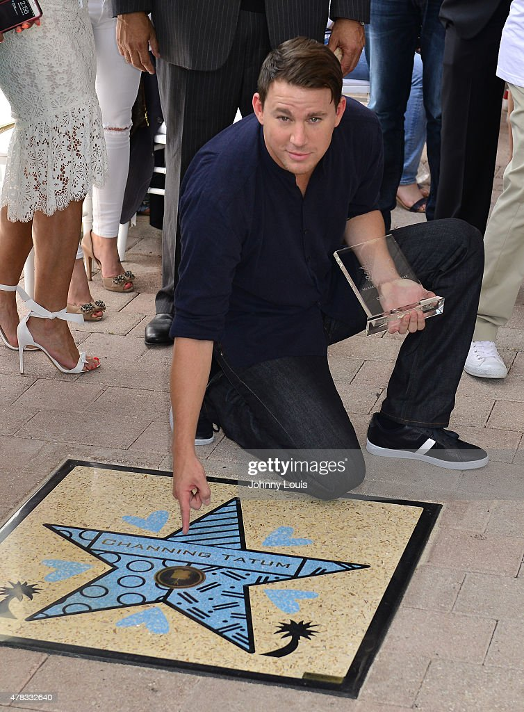 Channing Tatum attends Magic Mike XXL cast honored with stars on The Official Miami Walk Of Fame at Bayside Marketplace on June 24, 2015 in Miami, Florida.
