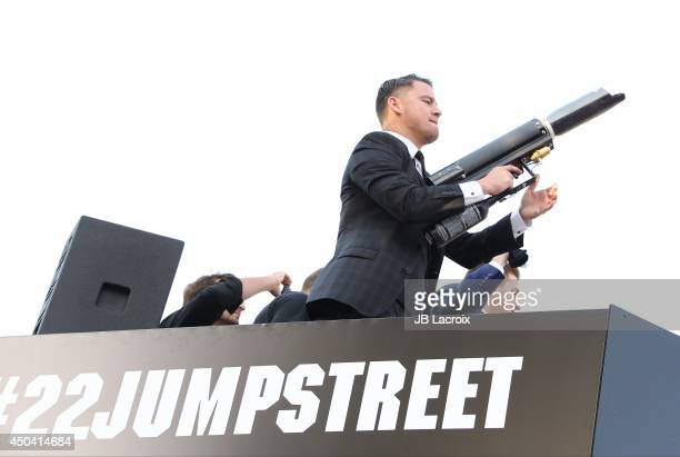 Channing Tatum attends the 22 Jump Street Los Angeles premiere on June 10 2014 held at the Regency Village Theatre in Westwood California