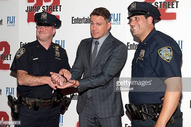 Channing Tatum attends the '22 Jump Street' premiere at AMC Lincoln Square Theater on June 4 2014 in New York City