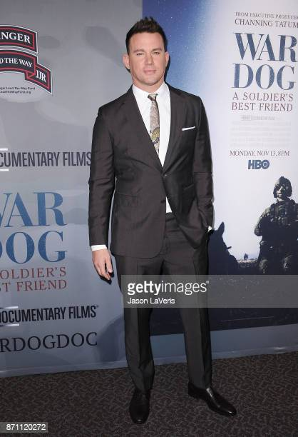 Channing Tatum attends the premiere of 'War Dog A Soldier's Best Friend' at Directors Guild Of America on November 6 2017 in Los Angeles California