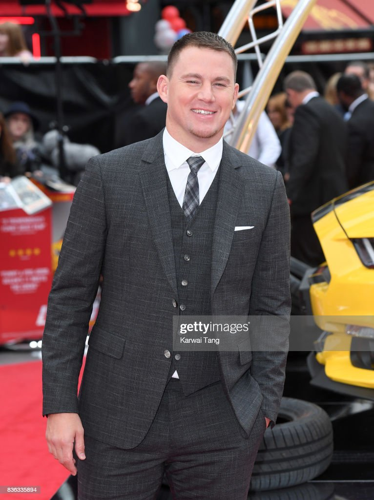 Channing Tatum attends the UK premiere of 'Logan Lucky' at the Vue West End on August 21, 2017 in London, England.