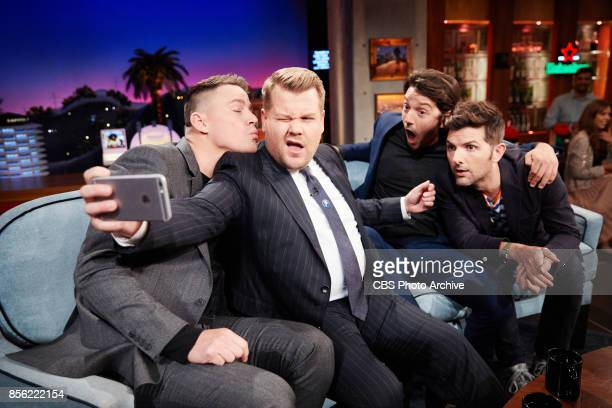 Channing Tatum Diego Luna and Adam Scott chat with James Corden during The Late Late Show with James Corden Tuesday September 26 2017 On The CBS...