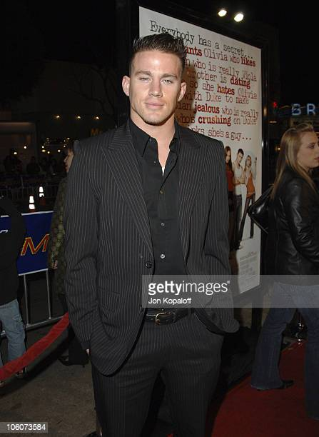 """Channing Tatum during DreamWorks' """"She's the Man"""" Los Angeles Premiere - Red Carpet at Mann's Village in Westwood, California, United States."""